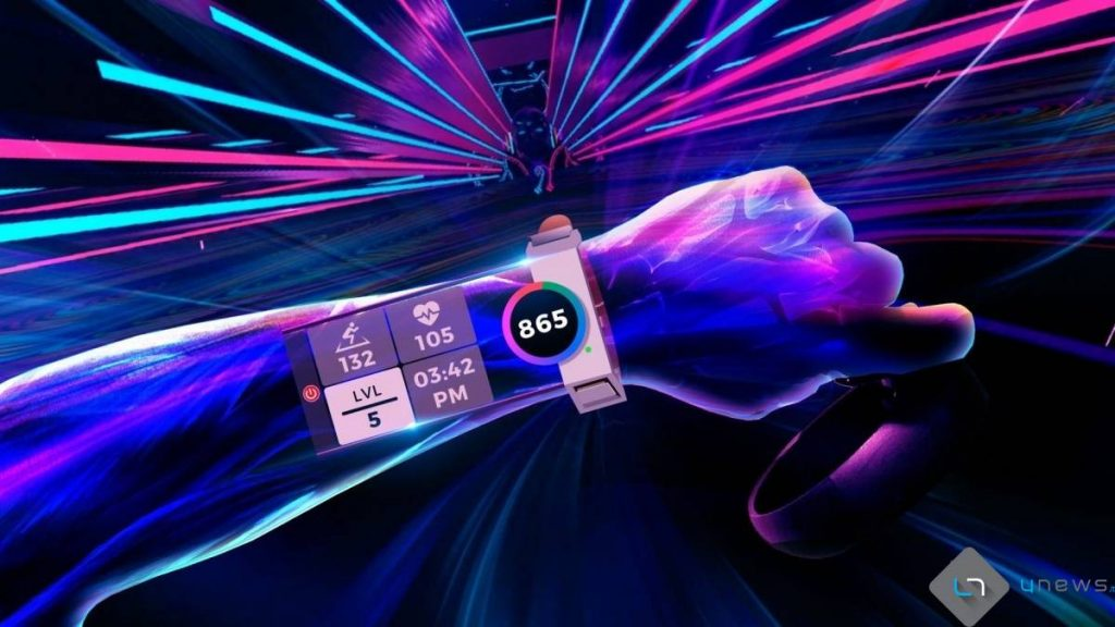 Synth Riders fitness tracker